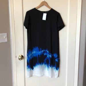 Vince NWT color burst shift dress